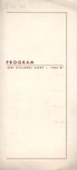 """Program """"Dni Zielonej Góry - 1966 r."""""""