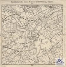 Zielona Góra [mapa] / Uebersichtskarte des inneren Teiles der Stadt Grünberg, Schlesien