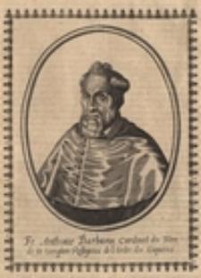 Fr. Anthonie Barbarin Cardinal du Tiltre de St. Onophre Rellgieux de l'Ordre des Capucins