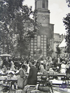 Zielona Góra / Grünberg; Markt a. d. Ev. Kirche; obecnie Kościół Matki Boskiej Częstochowskiej, ul. Mickiewicza