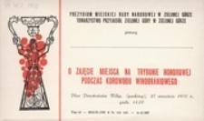 [Zaproszenie na miejsca na trybunie honorowej podczas Korowodu Winobraniowego 27 września 1970 r.]