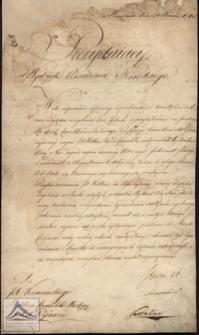 Pismo adresowane do J. A. Kamieńskiego Rektora Konwiktu Księży Pijarów w sprawach majątkowych z podpisem Stanisława Staszica