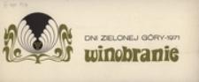 Dni Zielonej Góry - 1971. Winobranie: [zaproszenie na inaugurację]