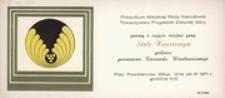 [Zaproszenie na miejsce przy Stole Honorowym podczas przemarszu Korowodu Winobraniowego 26 IX 1971 r.]