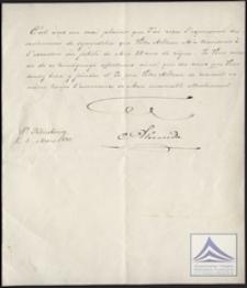 Odpowiedź cesarza Aleksandra II Romanowa na życzenia z okazji jubileuszu 25-lecia panowania w Rosji z jego podpisem