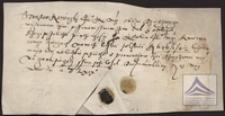 Pokwitowanie wpłaconego czynszu za rok 1568 przez Stanisława Karwickiego