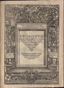 Promptvarivm Ivris Provincialis Saxonici, quod Speculum Saxonum uocatur, tu et Municipalis Maideburgen[sis] summa diligetia recollectum, et ad comune editum utilitate