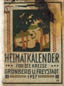 Heimatkalender für die Kreise Grünberg und Freystadt auf das Jahr 1927
