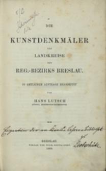 [Bd. 2]: Die Kunstdenkmäler der Landkreise des Reg.-Bezirks Breslau