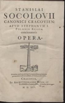 Stanislai Socolovii ... Opera: T. 1