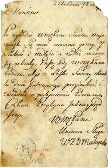 [List Mielżyńskiej z Chobienic do lekarza Knolla z Wolsztyna]