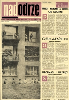 Nadodrze: dwutygodnik społeczno-kulturalny, 1-15 września 1966