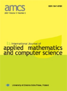 International Journal of Applied Mathematics and Computer Science (AMCS) 2007 Volume 17 Number 2