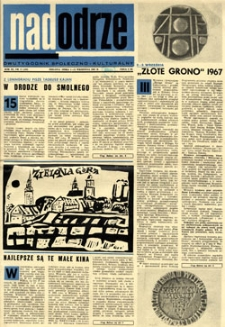 Nadodrze: dwutygodnik społeczno-kulturalny, 1-15 września 1967