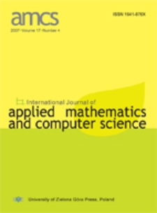 International Journal of Applied Mathematics and Computer Science (AMCS) 2007 Volume 17 Number 4