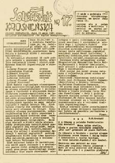Solidarność Krośnieńska, nr 17 (19 maja 1981 roku)