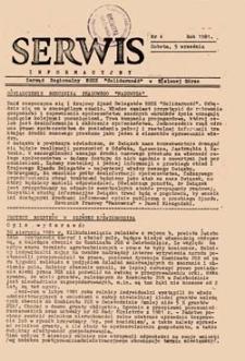 """Serwis Informacyjny: Zarząd Regionalny NSZZ """"Solidarność"""" w Zielonej Górze, nr 4 (sobota 5 września 1981)"""
