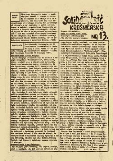 Solidarność ziemi krośnieńsko-lubińskiej, nr 3 (10 listopada 1980 roku)