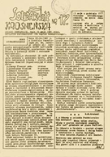 Solidarność Krośnieńska, nr 13 (12 marca 1981 roku)