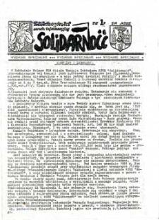 Zielonogórski serwis informacyjny Solidarność, nr 23 (12.11.1981r.)
