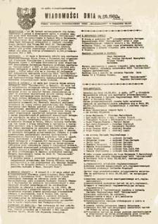 """Wiadomości dnia: pismo Zarządu Regionalnego NSZZ """"Solidarność"""" w Gorzowie Wlkp. (19.05.1981r.)"""