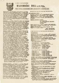 """Wiadomości dnia: pismo Zarządu Regionalnego NSZZ """"Solidarność"""" w Gorzowie Wlkp. (2.06.1981r.)"""