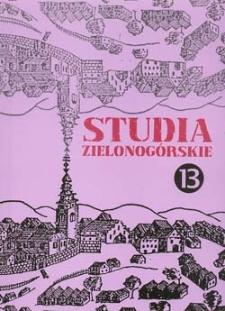 Studia Zielonogórskie: tom XIII