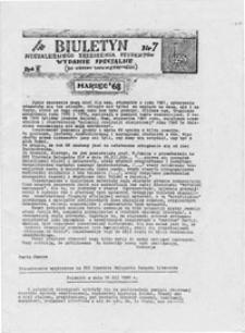 Biuletyn Niezależnego Zrzeszenia Studentów UMCS Lublin: wydanie specjalne, nr 7 (marzec '81)