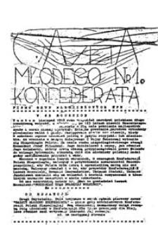 Gazeta Młodego Konfederata: pismo grup młodzieżowych KPN, nr 1 (10 listopad 1981)