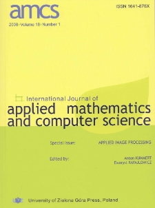 International Journal of Applied Mathematics and Computer Science (AMCS) 2008, volume 18, number 1