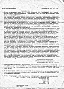 Komunikat Biura Prasowego Strajku PW, nr 5 (19.11.1981r.)
