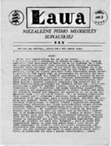 Ława: niezależne pismo młodzieży suwalskiej, nr 3 (luty 1981 r.)