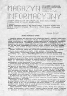 Magazyn informacyjny: Niezależne Zrzeszenie Studentów Politechniki Warszawskiej (12.11.1981)