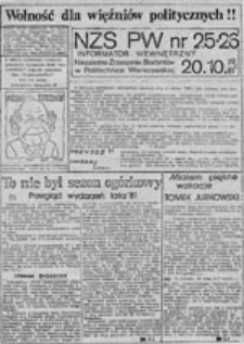 NZS-PW: informator wewnętrzny, nr 4 (13.03.1981 r.)