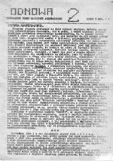 Odnowa: niezależne pismo młodzieży akademickiej, nr 2