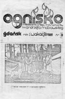 Ognisko: miesięcznik Kręgu Instruktorów Chorągwi Gdańskiej im. A. Małkowskiego, nr 3