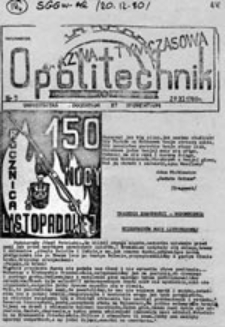 Opolitechnik: pismo społeczno-kulturalne NZS, nr 11 (marzec 81)