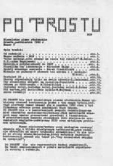 Po prostu: bis: niezależne pismo studenckie, nr 9 - 10 (październik - listopad 1981 r.)
