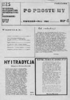 Po prostu my: satyryczna gazeta strajkowa studentów Wydziału Matermatyki, Informatyki i Mechaniki UW, nr 6