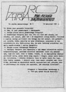 Pro Patria: pismo Polskiego Związku Akademickiego, nr 3 (19 kwiecień 1981 r.)