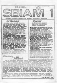 SBIAM (Studencki Biuletyn Informacyjny Akademii Medycznej w Warszawie), nr 1 (23 III 1980)