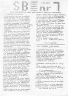 SB: strajkowy biuletyn Akademia Medyczna Warszawa, nr 1 (12.02.1981)