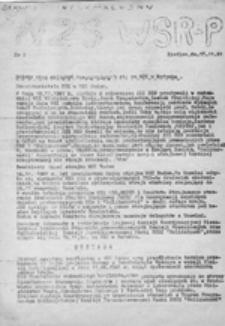 Serwis Informacyjny NZS WSRP Siedlce, nr 2 (17.11.1981 r.)