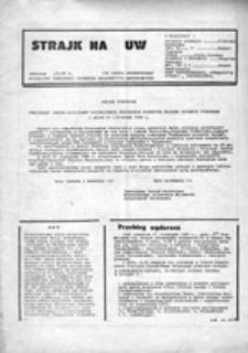 Strajk na U[niwersytecie] W[arszawskim] (.12.80)