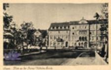 Żagań / Sagan; Platz an der Kaiser-Wilhelm Brücke