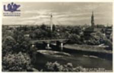 Żagań / Sagan; Blick auf den Bober mit Kaiser-Wilhelm-Brücke