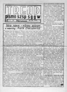 Trend: pismo publicystyczne SZSP SGGW, nr 9-24 (15.10.1981)