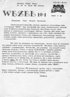 Węzeł: Niezależne Pismo Młodych Robotników, nr 1 (20.1.81)