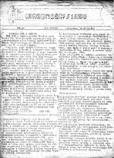 Wiadomości z lasu: informator strajkowy NZS Akademii Teologii Katolickiej, nr 18 (8.XII.81)