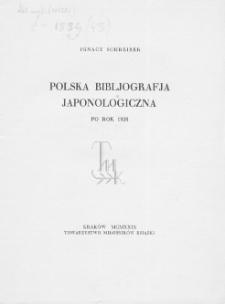 Polska bibliografia japonologiczna: po rok 1926
